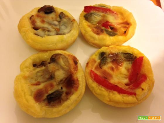 Mini quiches alle verdure