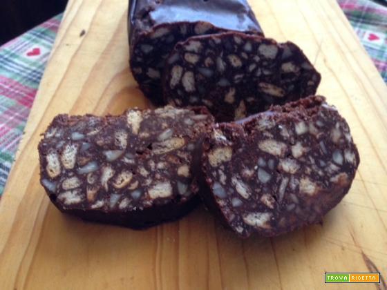 Dolce salame di cioccolato
