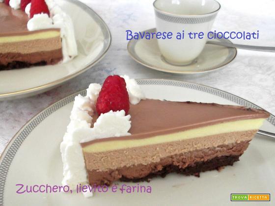 Bavarese ai tre cioccolati - Ricetta senza glutine (Luca Montersino)