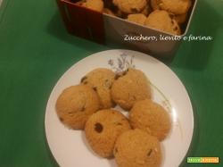 Biscotti integrali con uvetta e pinoli (anche in versione senza zucchero)
