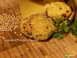 Crocchette di miglio e lenticchie