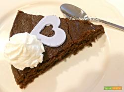 Torta morbida al cioccolato (senza zucchero e senza glutine)