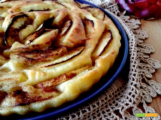 Crostata con pasta di pizza