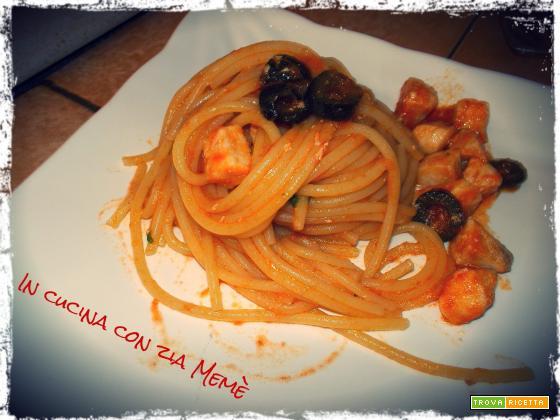 Spaghetti al ragù di pesce spada