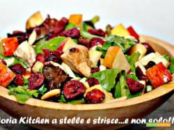 Insalata di Pollo Light con Mandorle (Almonds Lite Salad) di Gloria KitchenUSA