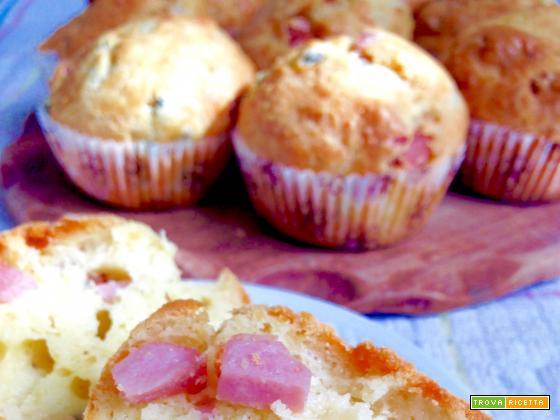 Muffin Salati Prosciutto e Piselli