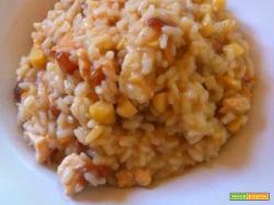 Risotto alla BiriChina con pollo, mandorle ed uvetta