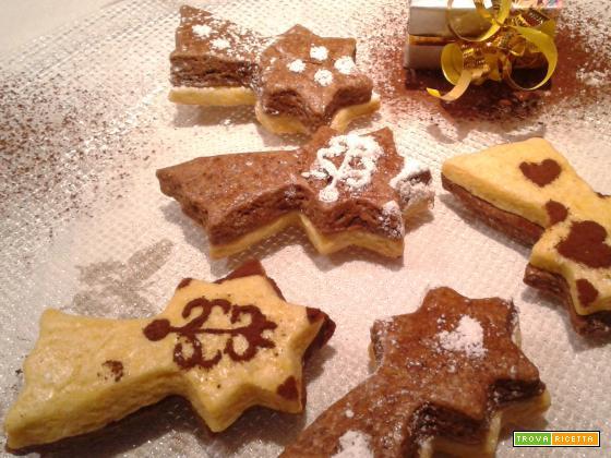 Biscotti Cometa vaniglia e cacao
