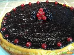 Cheesecake con marmellata di Mirtilli