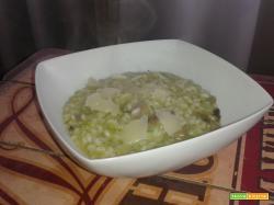 Risotto in crema di broccoli, champignon e pecorino