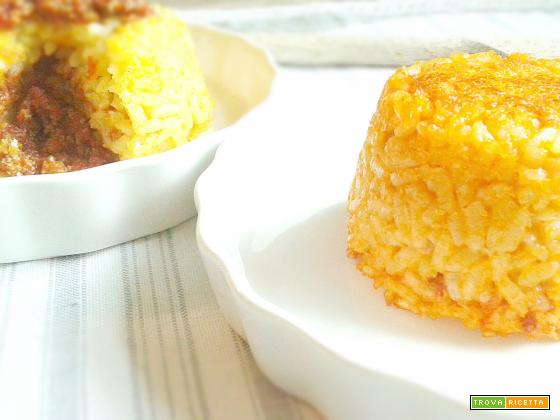 Sformatini di riso ripieni
