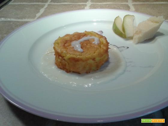 Soufflé di pere con salsa al parmigiano reggiano