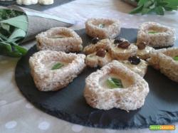 Tartine biscotto al tartufo