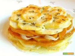 Torretta di patate, zucca e cipolla
