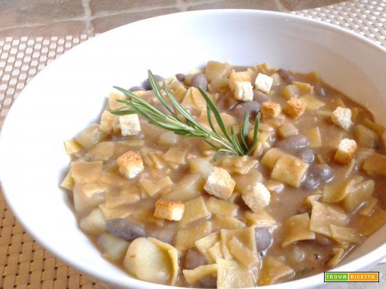 Zuppa con Fagioli Borlotti e Patate