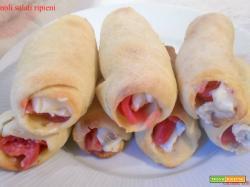Cannoli salati ripieni - lievito madre