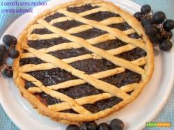 Crostata con confettura di uva fragola e cannella senza zucchero - Crostata Autunnale