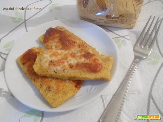 Crostini di polenta al forno