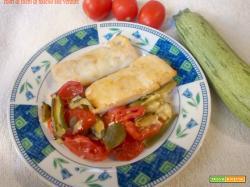 Cuori di filetti di nasello alle verdure