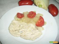 Fettine di tacchino con finocchio e patate