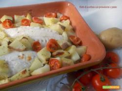 Filetti di scorfano con pomodorini e patate