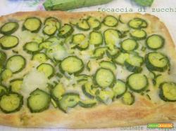 Focaccia di zucchine con lievito madre