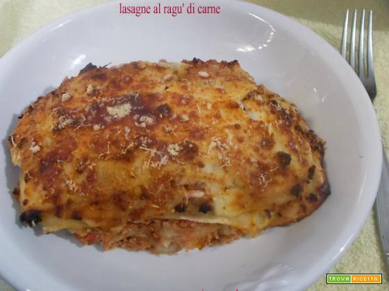 Lasagne al ragù di carne