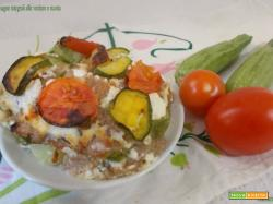 Lasagne integrali alle verdure e ricotta