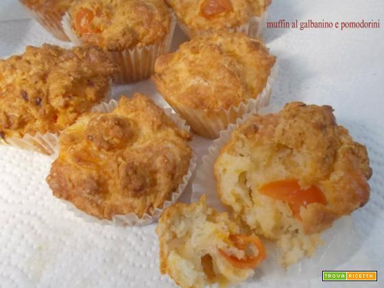 Muffin al galbanino e pomodorini