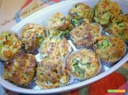 Muffins con zucchine e carote senza uova