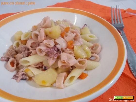 Penne con calamari e patate