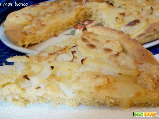 Pizza di mais bianca - lievito madre