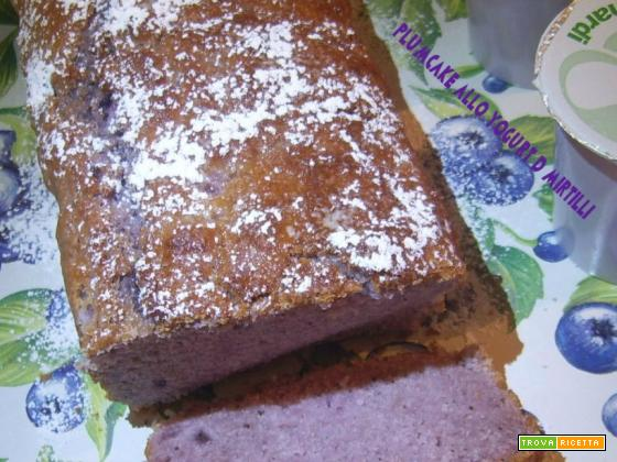 Plumcake allo yogurt di mirtilli