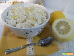 Riso al limone e philadelphia