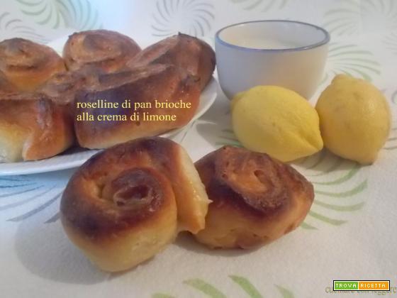 Roselline di pan brioche alla crema di limone - lievito madre