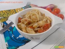 Spaghetti integrali al sugo di sogliola
