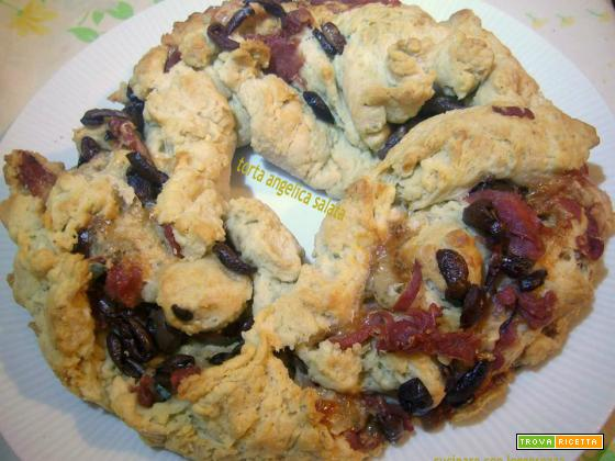Torta angelica salata - lievito madre