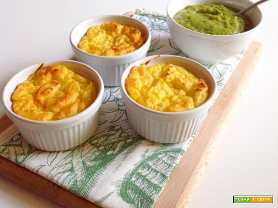 Tortini di patate con crema di zucchine