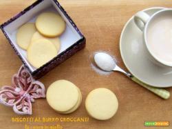 Biscotti al burro croccanti