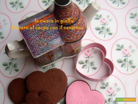 Biscotti al cacao con centrino
