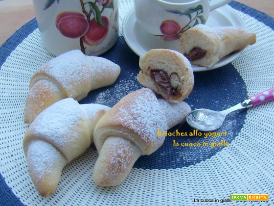 Brioches allo yogurt e nutella