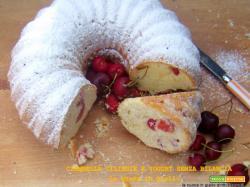 ciambella ciliegie e yogurt senza bilancia