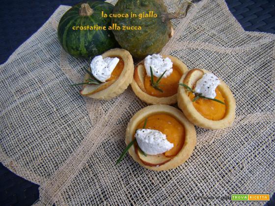 Crostatine d'autunno alla zucca