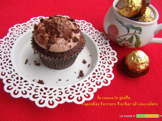Cupcake golosa... Ferrero Rocher al cioccolato