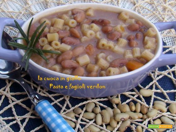 Pasta e fagioli verdon