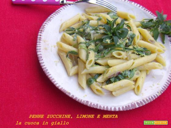 Penne...zucchine, limone e menta