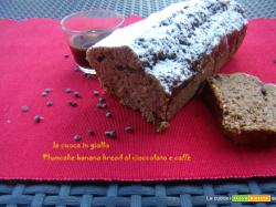 Plumcake banana bread al cioccolato e caffè
