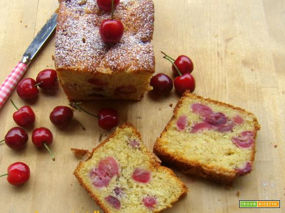 Plumcake ciliegie e ricotta