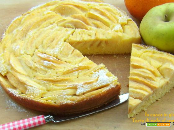 Torta di mele e semolino