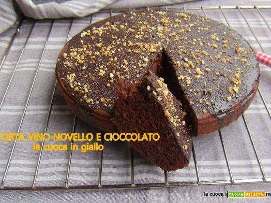 Torta vino novello e cioccolato